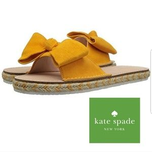 KATE SPADE ESPADRILLE BOW SANDALS
